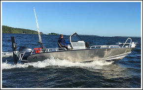 We fish from a special built Anytec 622 SPF