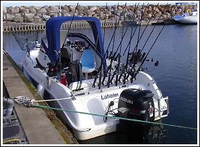 Fiskeguide i Laholm, our boat