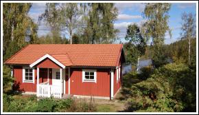 One of the cottages for rent at Brokamåla Gård (Farm)