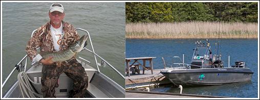Fishing Guide Lars Lindahl and his fishing boat