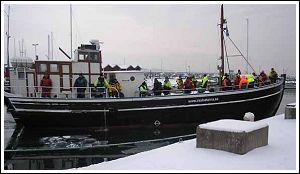 Islandia, tour fishing boat
