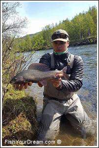 Fiske vid Ammarnäs