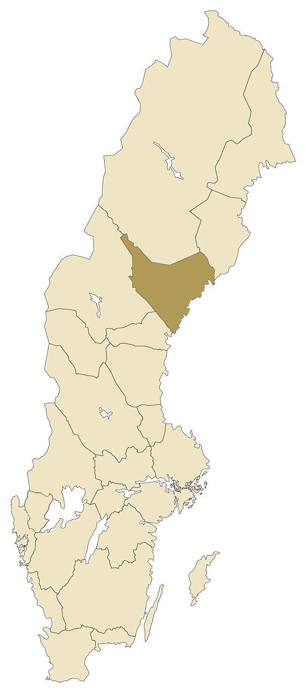 Ångermanland på karta över Sverige