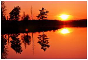 Solnedgång i Björnrike, Vemdalen