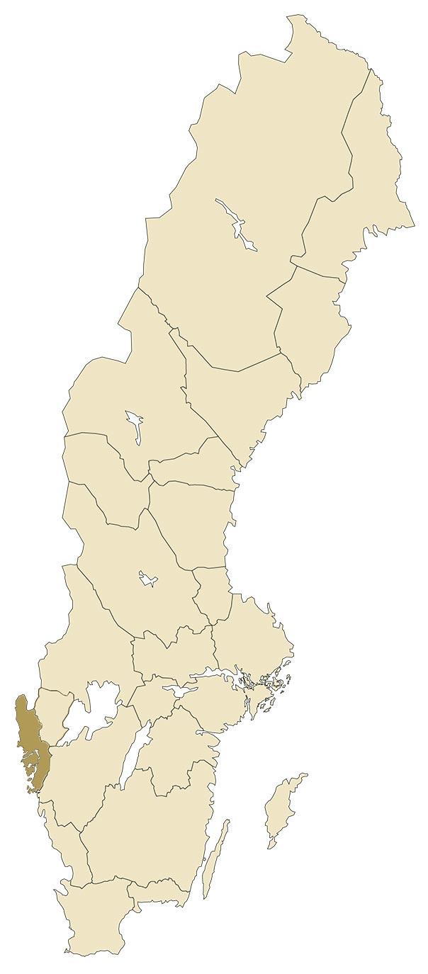 Bohuslän på karta över Sverige