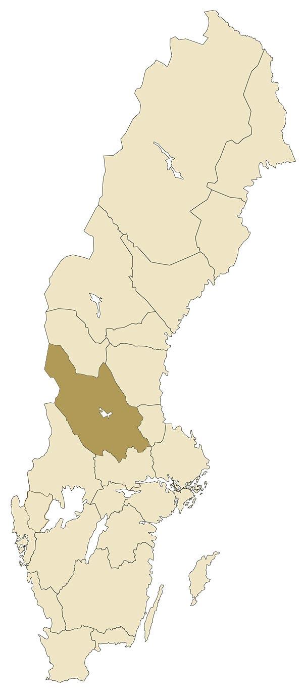 Dalarna på karta över Sverige