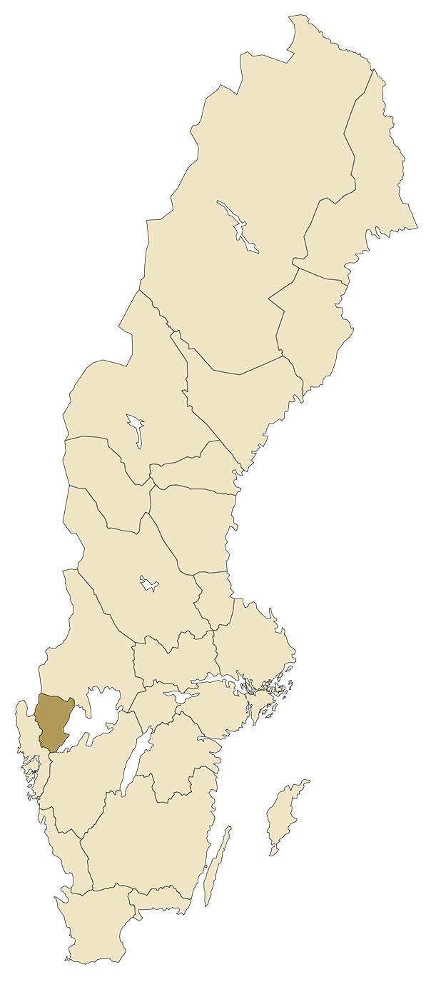Dalsland på karta över Sverige