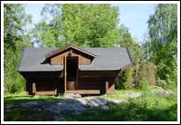 Siggehusen, stuga vid Fyrväpplingen Sportfiskecamp