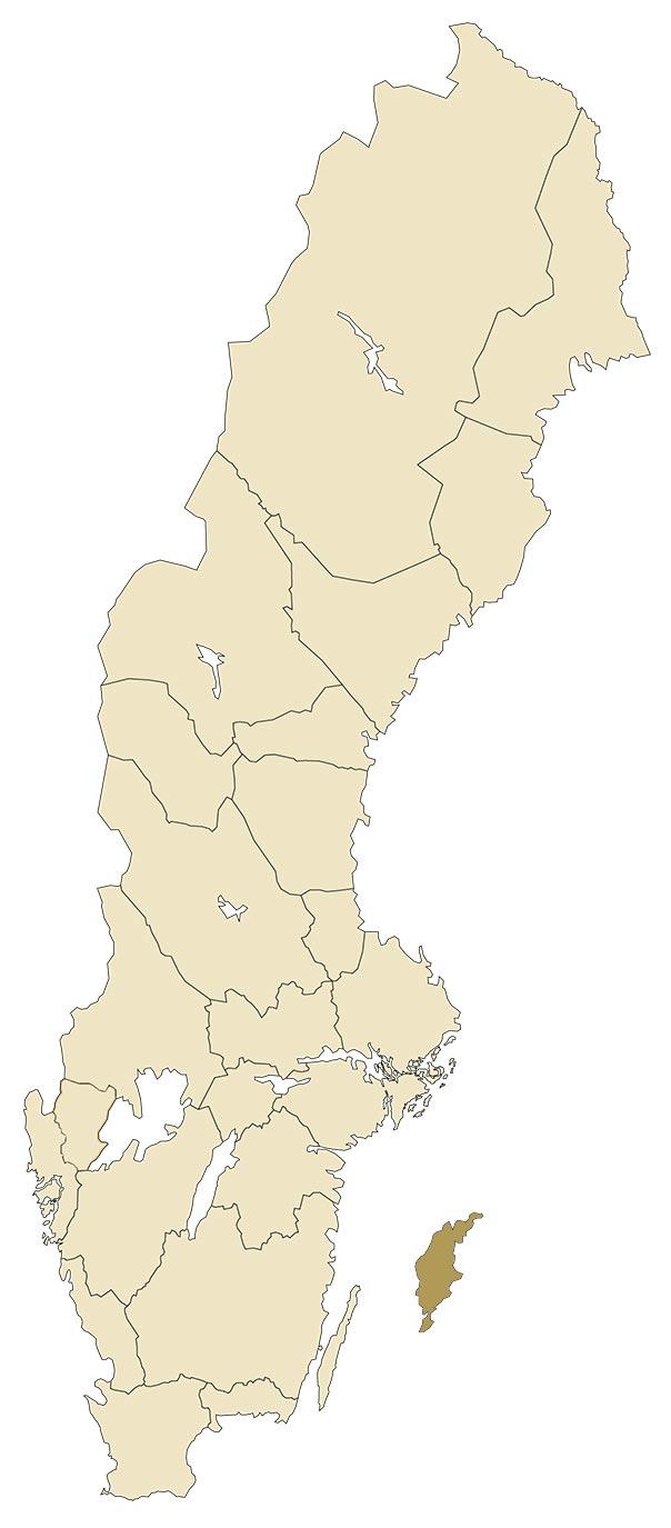 Gotland på karta över Sverige
