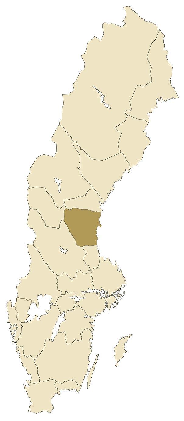 Hälsingland på karta över Sverige