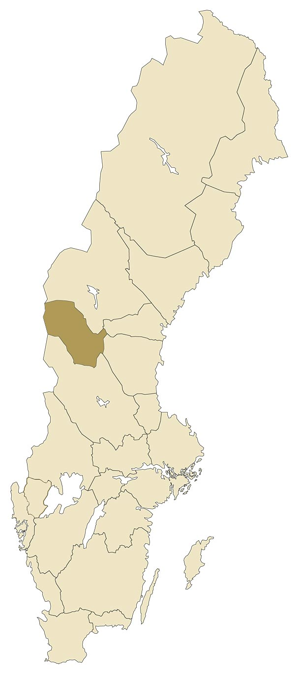 Härjedalen på karta över Sverige