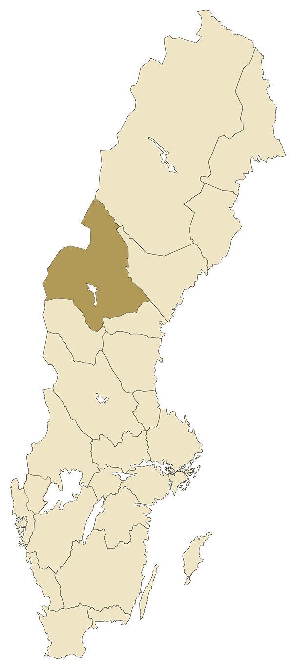 Jämtland på karta över Sverige