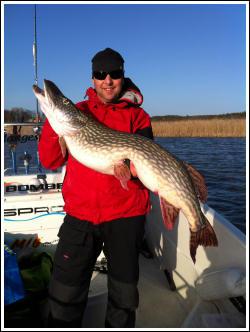 Mangesfiske, Fiskeguidning, stor gädda
