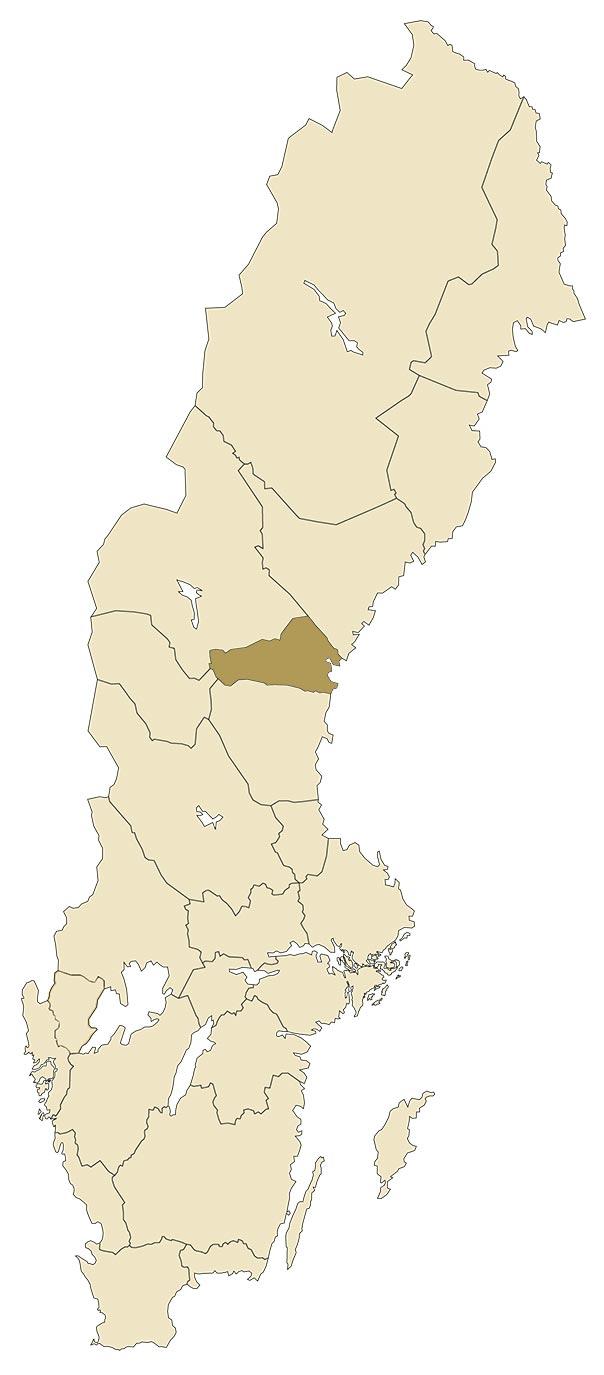 Medelpad på karta över Sverige