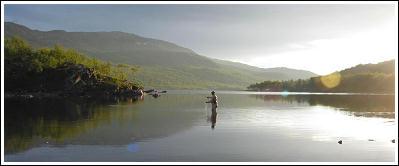 Fiske vid Miekak Jakt & Fiskecamp