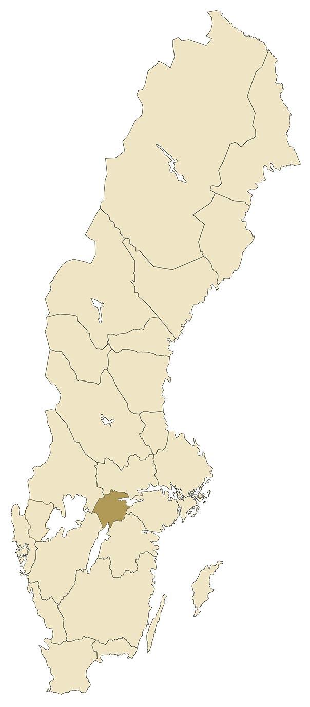 Närke på karta över Sverige