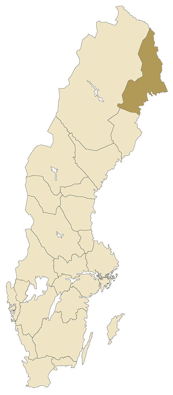 Norrbotten på karta över Sverige