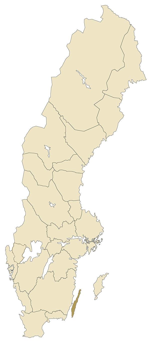 Öland på karta över Sverige