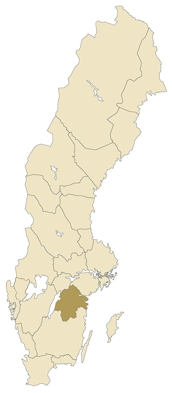 Östergötland på karta över Sverige