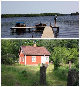 Mycket fin stuga nära sjö