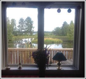 Utsikt från gästhuset på Tönnfors Fiskodling