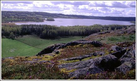 Utsikt från Sjöberget, över Säbysjön